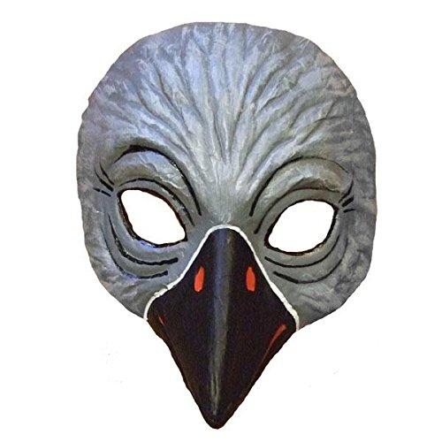 e Taubenmaske Maske grau Tiermasken ()