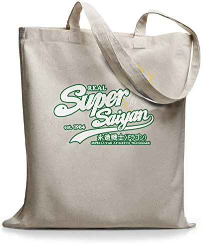 StyloBags Jutebeutel / Tasche Real Super Saiyan whitegreen Natur