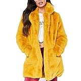 EFINNY Femmes Fausse Fourrure Long Manteau Cardigan Automne Hiver Chaud Casual Lâche Oversize Pull avec Poches