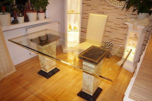 Schreibtisch Computertisch Bürotisch Nageltisch Manikürtisch Glasplatte 160cmx90cm