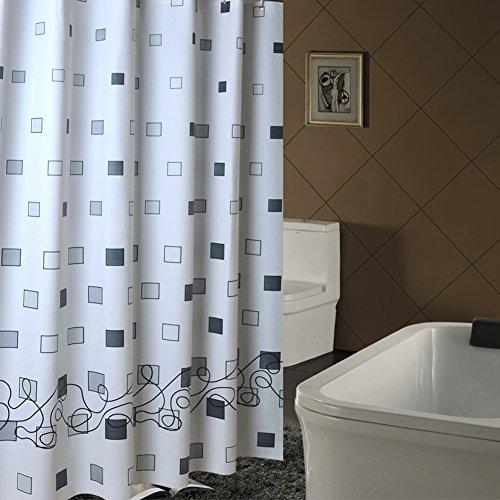 Gitter duschvorhänge, Badezimmer duschvorhänge Wasserdicht Cutoff vorhänge Balkon bespannung Fenster Hängen Ziehen sie vorhänge Duschvorhänge für zuhause-E 240x180cm(94x71inch) (Gitter-duschvorhang)