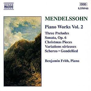 Mendelssohn Klavierwerke Vol 2 Fri