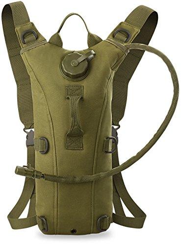 Military Überleben Trekking-Rucksack WASSER-TASCHE - 3L Wandern (beige) grün
