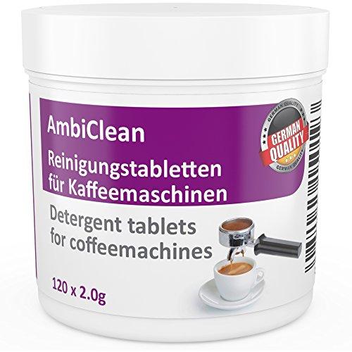 Reinigungstabletten für Kaffeevollautomat und Kaffee-Maschine | 120 Tabletten je 2g kompatibel mit...