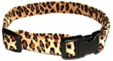 The Dog Squad Hundehalsband, Wildleder, Leopardenmuster, Größe XL, 51-58 cm