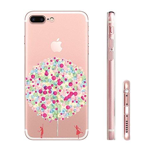 IPHONE 7plus Hülle Traumfänger Ballon Karikatur Panda TPU Silikon Schutzhülle Handyhülle Case - Klar Transparent Durchsichtig Clear Case für iPhone 7 plus (panda1) qq3-1