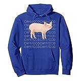 Kapuzenpullove-Damen Pulli Langarm t-Shirt-Frauen nettes Schwein Print Color Letter Pullover Sweatshirt-Jumper Oberteile - Rollkragen Sweatshirt-lose Bluse -Damen blusen(Blau,M)