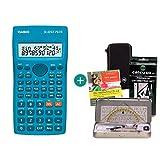 Casio FX-82SX Plus + Schutztasche + Geometrie-Set + Lern-CD (auf Deutsch)