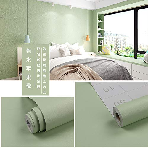 lsaiyy Tapete Dicke PVC Selbstklebende einfarbige Schlafzimmer Tapete wasserdichte Tapete-45CMX10MX0.13MM -