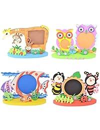 Reixus (TM) Facile Artisanat EVA Post-it Sticker animal Cadres photo Rand enfants Motif enfant Creative Activit¨¦ de bricolage Cartoon Jouets