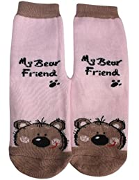 Weri Spezials My bear friend ABS Socke in Rosa
