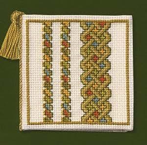 Vert-Noeud Celtique Étui à aiguilles Kit de broderie au point de croix