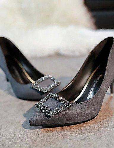 WSS 2016 Chaussures Femme-Soirée & Evénement-Noir / Vert / Rouge / Gris-Talon Aiguille-Bout Pointu-Talons-Polyuréthane gray-us6 / eu36 / uk4 / cn36