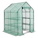 YOUKE Serre de Jardin PE Plastique Tente abri - diverses modèles - (143 x 143 x 195 CM)