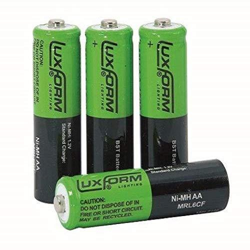 Luxform 9953 Aufladbare Solarbatterie AA NiMh 800 Mah, 4 Stück -