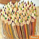 dingdangbell 10/viel Rainbow Farbe Bleistift 4 in 1 farbigen Zeichnen Malen Stationery Office Bleistifte