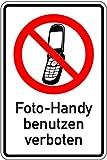 LEMAX® Aufkleber Foto-Handy benutzen verboten 150x100mm