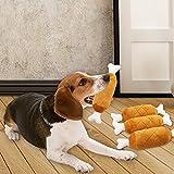 Hühnerschenkel Plüsch-Stoffspielzeug ,Haustier Spielzeug mit Stimme, Robuste Weiche kaut Spielzeug für Welpen, kleine Hunde und Katzen