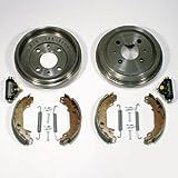 Bremstrommeln/Bremsen + Bremsbacken + Radzylinder + Zubehör hinten