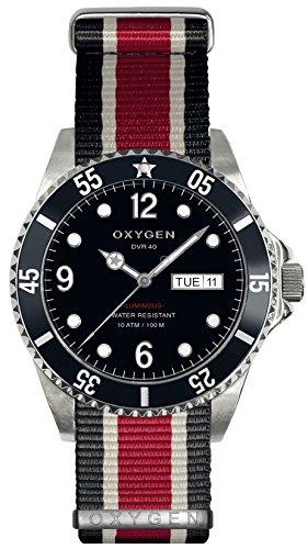 OXYGEN - EX-D-MOB-40-NN-BLIVRE - Montre Mixte - Quartz - Analogique - aiguilles luminescentes - Bracelet Nylon Multicolore