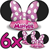 6x Minnie Mouse Chapeaux & # X2503–pour enfants et adultes & # X2503–Anniversaire d'Enfant & # X2503; enfants aiment Cette souris Chapeau Revêtement & # x2714;