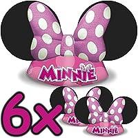 6x Minnie Mouse Sombreros ┃ para niños y adultos ┃ Cumpleaños ┃ Niños aman Este Ratón hütchen verkleidung ✔