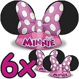 6x Minnie Mouse Chapeaux ┃ pour enfants et adultes ┃ Anniversaires d'Enfants ┃ enfants aiment Cette souris Chapeau Revêtement ✔
