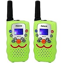 Retevis RT32 Niños Walkie Talkies PMR446MHz 8 Canales VOX con Correa para Cuello (Verde Claro, 1 Par)
