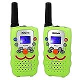Retevis RT32 Walkie Talkie für Kinder 8 Kanäle 0,5W PMR446 Funkgerät VOX Scan mit Taschenlampe Gürtelclip und Halssc