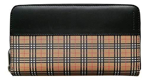 Burberry, Unisex-Erwachsene Damen-Geldbörse Schwarz Check Vintage - Nero 20.5 X 11 cm