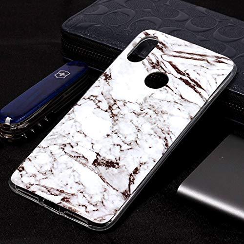 GUODONG Carcasa de telefono Marble Pattern Funda de TPU Suave for Xiaomi Redmi S2 (Plum Blossom) Funda Trasera para Smartphone (Color : Blanco)