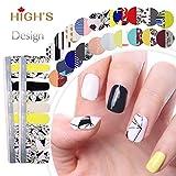 HIGH'S Exclusive Design Series Manucure Ongles Autocollants Nail Wraps, Paysages de r¨ºve