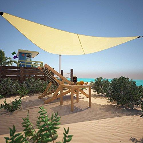 Cosway Tragbarer Triangle Sun Shade Sail Sonnendach Vorzelt Cover, 30,5x 30,5x 30,5cm für Outdoor Terrasse Werk Aktivitäten