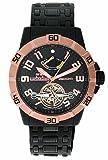 Yonger & Bresson - YBH 8317-07M - Montre Homme - Automatique Analogique - Cadran Noir - Bracelet Acier plaqué Noir