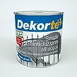 GDM-Smalto All'Acqua Antiruggine, Effetto Antichizzato, Dekortè, Colore: Grafite, 500 ml