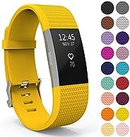 Yousave Accessoires Bandje voor FitBit Charge 2, Siliconen Sportarmband voor de FitBit Charge 2 - Beschikbaar in 18 kleuren