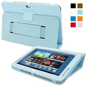 Étui Galaxy Note 10.1 (2013), Snugg - Housse de Protection en Cuir Bleu Méditerranée Style Smart Case Avec Garantie à Vie Pour Samsung Galaxy Note 10.1 (2013)