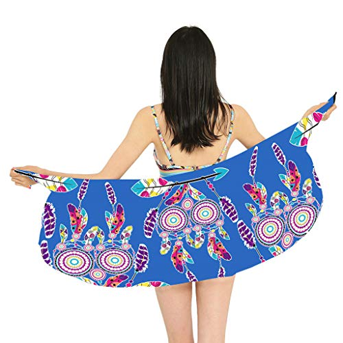 dd0ffbb85e6 MEETEW Womens Print Beach Skirt Swimwear Cover up Beach Sarong Swimsuit  Wrap Pareo Scarf for Summer