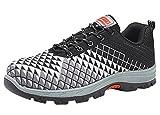 Schuhe Für Herren Arbeitsschuhe Sicherheitsschuhe Mit Stahlkappe Sportlich Atmungsaktiv Schutzschuhe Leicht Arbeitsschuh Bequemer (45 EU, Orange)