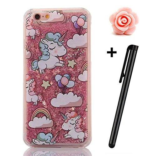 iPhone 6S Plus Hülle,iPhone 6 Plus/6S Plus Hülle Case,TOYYM 3D Kreativ Design Dynamisch Fließen Flüssig Handyhülle PC Hardcase Hüllen für Apple iPhone 6 Plus/6S Plus 5.5inch,Glitter Glitzer Sparkle Ha Schaf#2