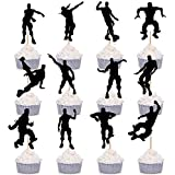 12 Pieces Dance Floss Cupcake Toppers Fortnite Game Theme Party Supplies Happy Birthday Cake Decoration