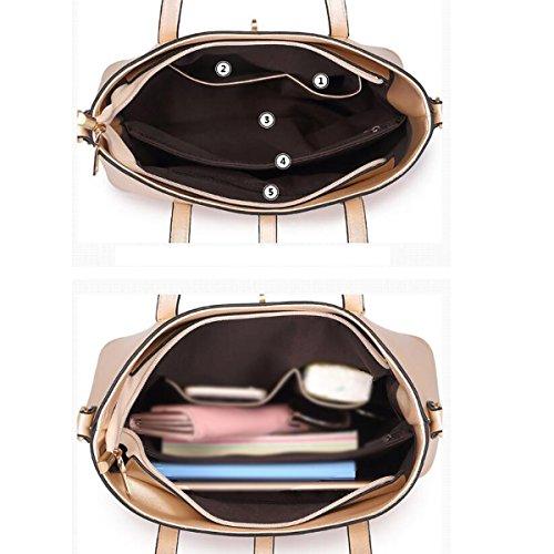 Donna Nuovo Stile Moda Set Di Tre Pezzi Tendenza Utilità Temperamento Spalla Singola Blue