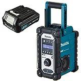 MAKITA Akku-Baustellenradio DMR 110 DAB/DAB+ 7,2-18 V + 1x Akku 10,8 Volt 1,5 Ah Digital Audio Radio DMR110