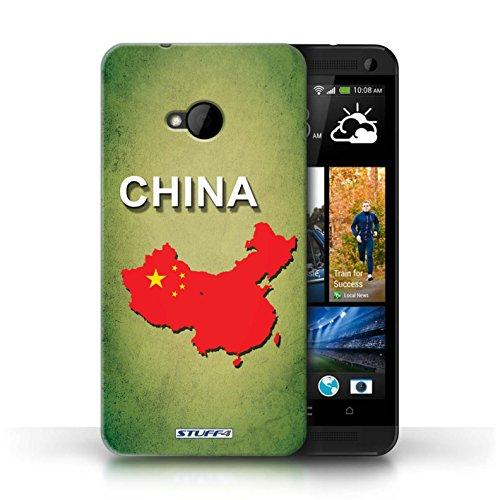 Coque de Stuff4 / Coque pour HTC One/1 M7 / Amérique/Américain/USA Design / Drapeau Pays Collection Chine/Chinois