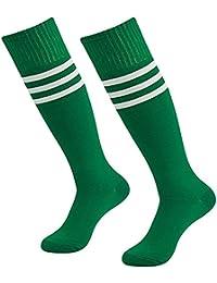 c7e8e04ba Da Wa moda mujeres rodillera calcetines rayas largo calcetines hombres  deportes fútbol calcetines niñas Danza medias