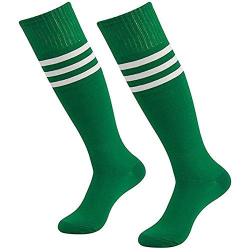 Da Wa moda mujeres rodillera calcetines rayas largo
