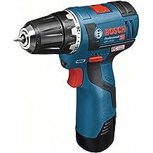 Bosch Professional GSR 10,8 V-EC Trapano con Impugnatura a Pistola, Batteria, Blu