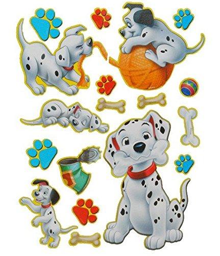 Unbekannt 18 tlg. Set XL Sticker / Aufkleber Kinder Kind - Disney 101 Dalmatiner Hund - Wasserfest Sticker (101 Welpen)