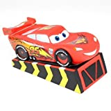 Official Disney Cars Lightning McQueen Statue Piggy Bank Money Coin Box