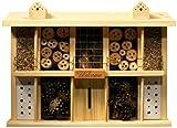 Luxus-Insektenhotels 22626e Insektenhotel Landsitz Superior, fertig gebautes Insektenhaus, 47x34x12,5 cm, Bienenhotel aus stabilem Vollholz, Marienkäferhaus/Schmetterlingshaus XXL